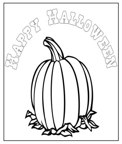 Happy Halloween Pumpkin Color Page - 2018 Halloween Movies ...