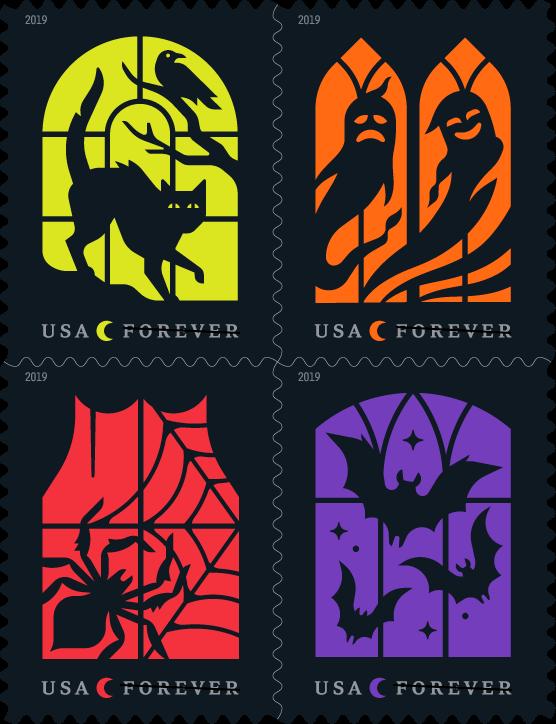 Halloween Stamps 2020 U.S. Postal Service reveals Halloween stamps for 2019   Halloween
