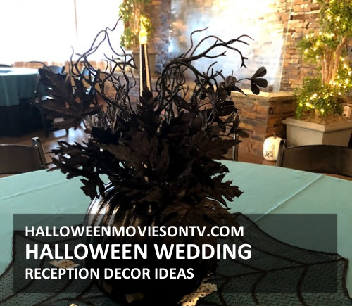 Halloween Wedding Reception Centerpieces